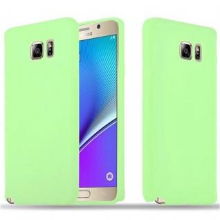 Cadorabo Hülle für Samsung Galaxy NOTE 5 in CANDY PASTELL GRÜN - Handyhülle aus flexiblem TPU Silikon - Silikonhülle Schutzhülle Ultra Slim Soft Back Cover Case Bumper