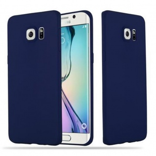 Cadorabo Hülle für Samsung Galaxy S6 EDGE PLUS in CANDY DUNKEL BLAU - Handyhülle aus flexiblem TPU Silikon - Silikonhülle Schutzhülle Ultra Slim Soft Back Cover Case Bumper