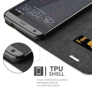 Cadorabo Hülle für HTC DESIRE 530 / 630 in KAFFEE BRAUN - Handyhülle mit Magnetverschluss, Standfunktion und Kartenfach - Case Cover Schutzhülle Etui Tasche Book Klapp Style - Vorschau 3