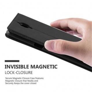 Cadorabo Hülle für OnePlus 3 / 3T in NACHT SCHWARZ - Handyhülle mit Magnetverschluss, Standfunktion und Kartenfach - Case Cover Schutzhülle Etui Tasche Book Klapp Style - Vorschau 5