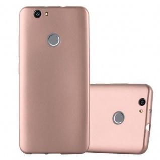 Cadorabo Hülle für Huawei NOVA in METALLIC ROSE GOLD - Handyhülle aus flexiblem TPU Silikon - Silikonhülle Schutzhülle Ultra Slim Soft Back Cover Case Bumper