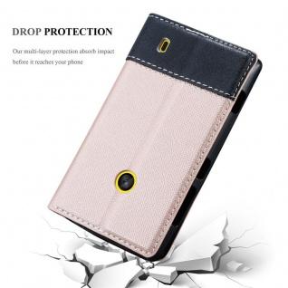 Cadorabo Hülle für Nokia Lumia 520 in ROSÉ GOLD SCHWARZ ? Handyhülle mit Magnetverschluss, Standfunktion und Kartenfach ? Case Cover Schutzhülle Etui Tasche Book Klapp Style - Vorschau 5