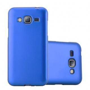 Cadorabo Hülle für Samsung Galaxy J3 / J3 DUOS 2016 in METALLIC BLAU - Handyhülle aus flexiblem TPU Silikon - Silikonhülle Schutzhülle Ultra Slim Soft Back Cover Case Bumper