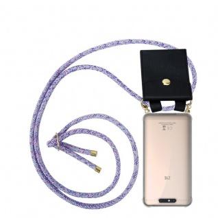 Cadorabo Handy Kette für ZTE Blade V8 in UNICORN - Silikon Necklace Umhänge Hülle mit Gold Ringen, Kordel Band Schnur und abnehmbarem Etui ? Schutzhülle