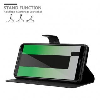 Cadorabo Hülle für Huawei MATE 10 LITE in PHANTOM SCHWARZ - Handyhülle mit Magnetverschluss, Standfunktion und Kartenfach - Case Cover Schutzhülle Etui Tasche Book Klapp Style - Vorschau 5