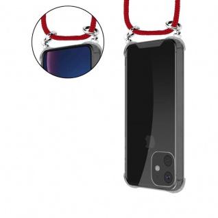 Cadorabo Handy Kette für Apple iPhone 11 (XI) in RUBIN ROT - Silikon Necklace Umhänge Hülle mit Silber Ringen, Kordel Band Schnur und abnehmbarem Etui - Schutzhülle - Vorschau 5