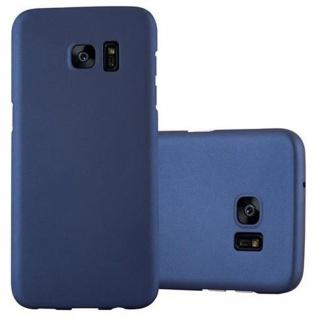 Cadorabo Hülle für Samsung Galaxy S7 EDGE in METALL BLAU - Hardcase Handyhülle aus Plastik gegen Kratzer und Stöße - Schutzhülle Bumper Ultra Slim Back Case Hard Cover