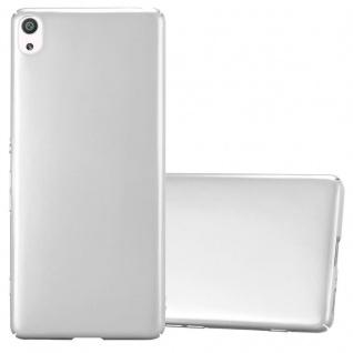 Cadorabo Hülle für Sony Xperia XA in METALL SILBER - Hardcase Handyhülle aus Plastik gegen Kratzer und Stöße - Schutzhülle Bumper Ultra Slim Back Case Hard Cover
