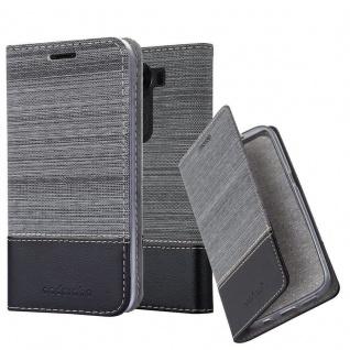 Cadorabo Hülle für LG V10 in GRAU SCHWARZ - Handyhülle mit Magnetverschluss, Standfunktion und Kartenfach - Case Cover Schutzhülle Etui Tasche Book Klapp Style