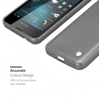 Cadorabo Hülle für Nokia Lumia 550 in METALLIC GRAU - Handyhülle aus flexiblem TPU Silikon - Silikonhülle Schutzhülle Ultra Slim Soft Back Cover Case Bumper - Vorschau 5