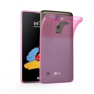 Cadorabo Hülle für LG STYLUS 2 in TRANSPARENT PINK - Handyhülle aus flexiblem TPU Silikon - Silikonhülle Schutzhülle Ultra Slim Soft Back Cover Case Bumper
