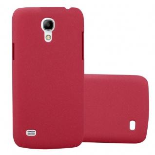Cadorabo Hülle für Samsung Galaxy S4 MINI in FROSTY ROT Hardcase Handyhülle aus Plastik gegen Kratzer und Stöße Schutzhülle Bumper Ultra Slim Back Case Hard Cover