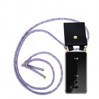 Cadorabo Handy Kette für LG G8 ThinQ in UNICORN Silikon Necklace Umhänge Hülle mit Gold Ringen, Kordel Band Schnur und abnehmbarem Etui Schutzhülle