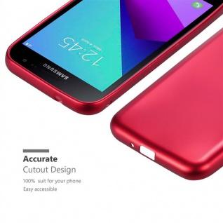 Cadorabo Hülle für Samsung Galaxy Xcover 4 in METALLIC ROT - Handyhülle aus flexiblem TPU Silikon - Silikonhülle Schutzhülle Ultra Slim Soft Back Cover Case Bumper - Vorschau 5