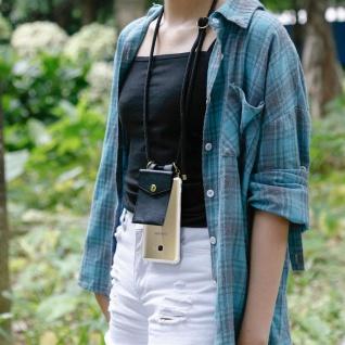 Cadorabo Handy Kette für Samsung Galaxy A5 2017 in SCHWARZ ? Silikon Necklace Umhänge Hülle mit Gold Ringen, Kordel Band Schnur und abnehmbarem Etui ? Schutzhülle - Vorschau 4