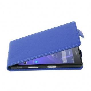 Cadorabo Hülle für Sony Xperia X in KÖNIGS BLAU - Handyhülle im Flip Design aus strukturiertem Kunstleder - Case Cover Schutzhülle Etui Tasche Book Klapp Style