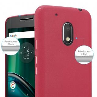 Cadorabo Hülle für Motorola MOTO G4 PLAY in FROSTY ROT - Hardcase Handyhülle aus Plastik gegen Kratzer und Stöße - Schutzhülle Bumper Ultra Slim Back Case Hard Cover - Vorschau 3