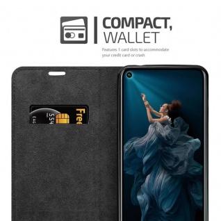 Cadorabo Hülle für Honor 20 PRO in NACHT SCHWARZ - Handyhülle mit Magnetverschluss, Standfunktion und Kartenfach - Case Cover Schutzhülle Etui Tasche Book Klapp Style - Vorschau 3