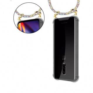 Cadorabo Handy Kette für OnePlus 6T in RAINBOW - Silikon Necklace Umhänge Hülle mit Gold Ringen, Kordel Band Schnur und abnehmbarem Etui ? Schutzhülle - Vorschau 5