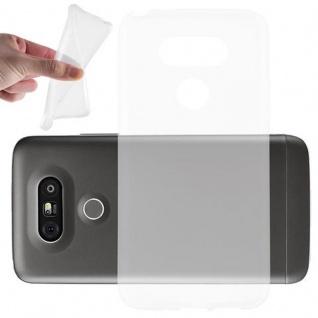 Cadorabo Hülle für LG G5 in VOLL TRANSPARENT - Handyhülle aus flexiblem TPU Silikon - Silikonhülle Schutzhülle Ultra Slim Soft Back Cover Case Bumper