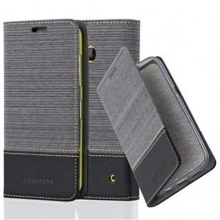 Cadorabo Hülle für Nokia Lumia 630 in GRAU SCHWARZ - Handyhülle mit Magnetverschluss, Standfunktion und Kartenfach - Case Cover Schutzhülle Etui Tasche Book Klapp Style