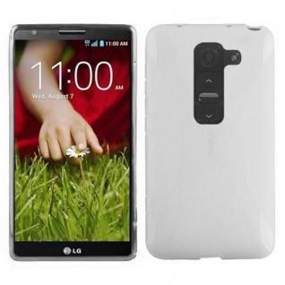 Cadorabo Hülle für LG G2 MINI in HALB TRANSPARENT ? Handyhülle aus flexiblem TPU Silikon ? Silikonhülle Schutzhülle Ultra Slim Soft Back Cover Case Bumper