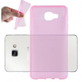 Cadorabo Hülle für Samsung Galaxy A7 2016 in TRANSPARENT PINK - Handyhülle aus flexiblem TPU Silikon - Silikonhülle Schutzhülle Ultra Slim Soft Back Cover Case Bumper