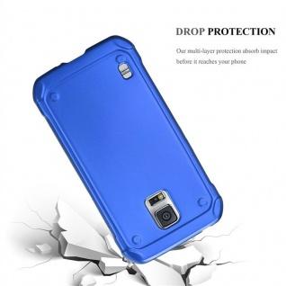 Cadorabo Hülle für Samsung Galaxy S5 Active in METALLIC BLAU - Handyhülle aus flexiblem TPU Silikon - Silikonhülle Schutzhülle Ultra Slim Soft Back Cover Case Bumper - Vorschau 3
