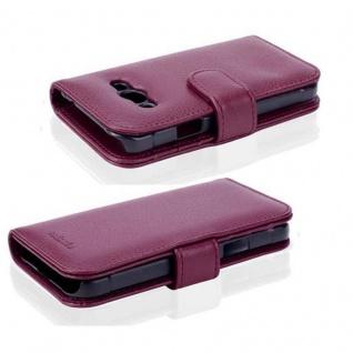 Cadorabo Hülle für Samsung Galaxy Xcover 3 in BORDEAUX LILA ? Handyhülle mit Magnetverschluss und 3 Kartenfächern ? Case Cover Schutzhülle Etui Tasche Book Klapp Style - Vorschau 3