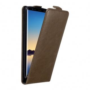 Cadorabo Hülle für Samsung Galaxy NOTE 8 in KAFFEE BRAUN Handyhülle im Flip Design mit unsichtbarem Magnetverschluss Case Cover Schutzhülle Etui Tasche Book Klapp Style