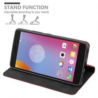 Cadorabo Hülle für Lenovo K6 NOTE in APFEL ROT Handyhülle mit Magnetverschluss, Standfunktion und Kartenfach Case Cover Schutzhülle Etui Tasche Book Klapp Style - Vorschau 3