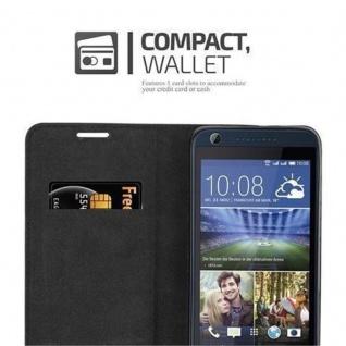 Cadorabo Hülle für HTC DESIRE 626G in NACHT SCHWARZ - Handyhülle mit Magnetverschluss, Standfunktion und Kartenfach - Case Cover Schutzhülle Etui Tasche Book Klapp Style - Vorschau 5