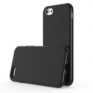 Cadorabo Hülle für Apple iPhone 7 / iPhone 7S / iPhone 8 in SCHWARZ - Handyhülle aus flexiblem TPU Silikon - Silikonhülle Schutzhülle Ultra Slim Soft Back Cover Case Bumper