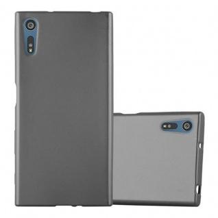 Cadorabo Hülle für Sony Xperia XZ / XZs - Hülle in METALLIC GRAU ? Handyhülle aus TPU Silikon im Matt Metallic Design - Ultra Slim Soft Backcover Case Bumper