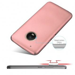Cadorabo Hülle für Motorola MOTO G5 PLUS in METALL ROSÉ GOLD ? Hardcase Handyhülle aus Plastik gegen Kratzer und Stöße ? Schutzhülle Bumper Ultra Slim Back Case Hard Cover - Vorschau 4