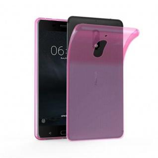 Cadorabo Hülle für Nokia 6 2017 in TRANSPARENT PINK - Handyhülle aus flexiblem TPU Silikon - Silikonhülle Schutzhülle Ultra Slim Soft Back Cover Case Bumper