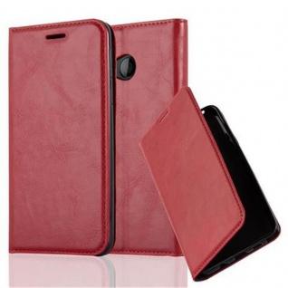 Cadorabo Hülle für HTC U PLAY in APFEL ROT Handyhülle mit Magnetverschluss, Standfunktion und Kartenfach Case Cover Schutzhülle Etui Tasche Book Klapp Style