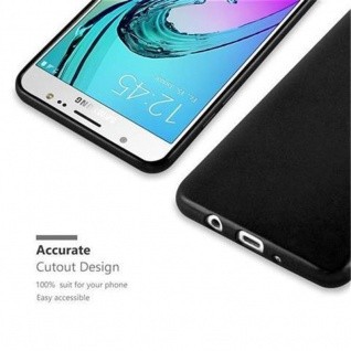 Cadorabo Hülle für Samsung Galaxy J5 2016 in METALLIC SCHWARZ - Handyhülle aus flexiblem TPU Silikon - Silikonhülle Schutzhülle Ultra Slim Soft Back Cover Case Bumper - Vorschau 2