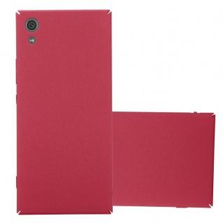Cadorabo Hülle für Sony Xperia XA1 in FROSTY ROT - Hardcase Handyhülle aus Plastik gegen Kratzer und Stöße - Schutzhülle Bumper Ultra Slim Back Case Hard Cover