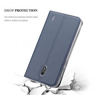 Cadorabo Hülle für Nokia 2 2017 in CLASSY DUNKEL BLAU - Handyhülle mit Magnetverschluss, Standfunktion und Kartenfach - Case Cover Schutzhülle Etui Tasche Book Klapp Style - Vorschau 5