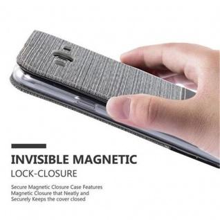 Cadorabo Hülle für Samsung Galaxy J3 2016 in GRAU SCHWARZ - Handyhülle mit Magnetverschluss, Standfunktion und Kartenfach - Case Cover Schutzhülle Etui Tasche Book Klapp Style - Vorschau 5
