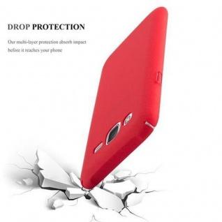 Cadorabo Hülle für Samsung Galaxy J5 2015 in FROSTY ROT - Hardcase Handyhülle aus Plastik gegen Kratzer und Stöße - Schutzhülle Bumper Ultra Slim Back Case Hard Cover - Vorschau 3