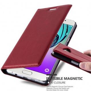 Cadorabo Hülle für Samsung Galaxy A5 2016 in APFEL ROT - Handyhülle mit Magnetverschluss, Standfunktion und Kartenfach - Case Cover Schutzhülle Etui Tasche Book Klapp Style