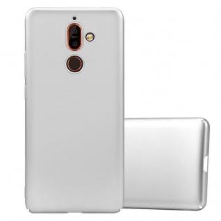 Cadorabo Hülle für Nokia 7 PLUS in METALL SILBER Hardcase Handyhülle aus Plastik gegen Kratzer und Stöße Schutzhülle Bumper Ultra Slim Back Case Hard Cover