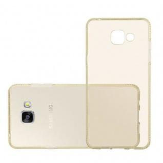 Cadorabo Hülle für Samsung Galaxy A5 2016 - Hülle in TRANSPARENT GOLD ? Handyhülle aus TPU Silikon im Strass Design - Silikonhülle Schutzhülle Ultra Slim Soft Back Cover Case Bumper - Vorschau 4