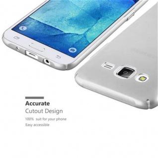 Cadorabo Hülle für Samsung Galaxy J5 2015 in METALL SILBER - Hardcase Handyhülle aus Plastik gegen Kratzer und Stöße - Schutzhülle Bumper Ultra Slim Back Case Hard Cover - Vorschau 3