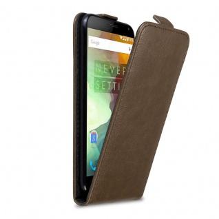 Cadorabo Hülle für OnePlus 2 in KAFFEE BRAUN - Handyhülle im Flip Design mit Magnetverschluss - Case Cover Schutzhülle Etui Tasche Book Klapp Style
