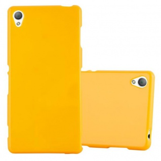 Cadorabo Hülle für Sony Xperia Z3 in JELLY GELB - Handyhülle aus flexiblem TPU Silikon - Silikonhülle Schutzhülle Ultra Slim Soft Back Cover Case Bumper