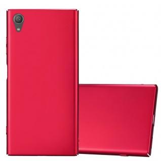 Cadorabo Hülle für Sony Xperia XA1 PLUS in METALL ROT Hardcase Handyhülle aus Plastik gegen Kratzer und Stöße Schutzhülle Bumper Ultra Slim Back Case Hard Cover