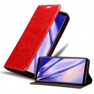 Cadorabo Hülle für Sony Xperia 5 in APFEL ROT Handyhülle mit Magnetverschluss, Standfunktion und Kartenfach Case Cover Schutzhülle Etui Tasche Book Klapp Style